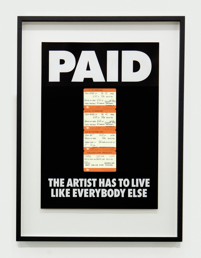 <span class=&#34;artist&#34;><strong>BILLY APPLE</strong></span>, <span class=&#34;title&#34;><em>PAID: The Artist Has to Live Like Everybody Else, 4 x British Rail tickets: &#163;178 Berwick on Tweed to Kings X London 24 Oct 2010</em>, 1987 / 2018</span>