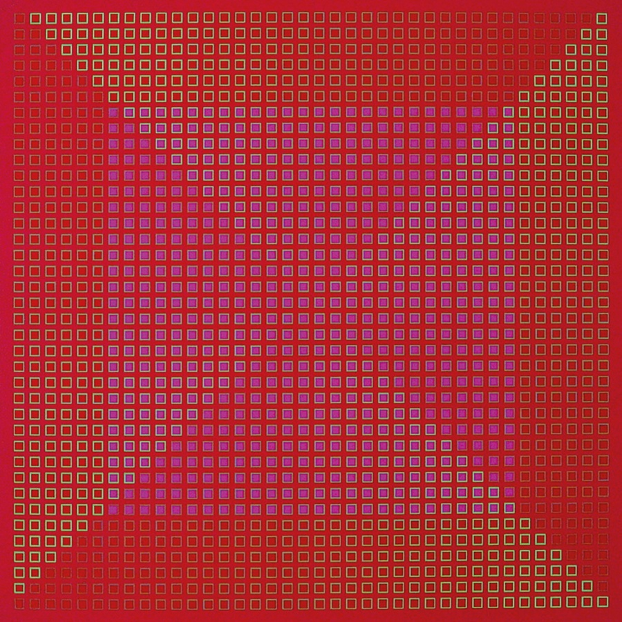 <p><span class=&#34;artist&#34;><strong>JULIAN STA&#323;CZAK</strong></span>, <span class=&#34;title&#34;><em>Centred Duality - Red</em>, 1981-82</span></p><div class=&#34;medium&#34;>Acrylic on canvas</div><div class=&#34;dimensions&#34;>76 x 76 cm<br />29 &#8542; x 29 &#8542; inches</div>