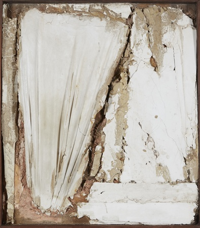 <p><span class=&#34;artist&#34;><strong>ROBERT MALLARY</strong></span>, <span class=&#34;title&#34;><em>Untitled</em>, 1957-1958</span></p><div class=&#34;medium&#34;>Mixed media: Found materials bound with plaster with a wooden frame</div><div class=&#34;dimensions&#34;>29 &#189; x 26 x 3 &#189; in<br />75 x 66 x 9 cm</div>