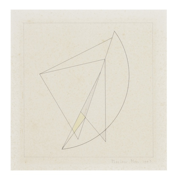 MARLOW MOSS, Work on paper No.3, 1943