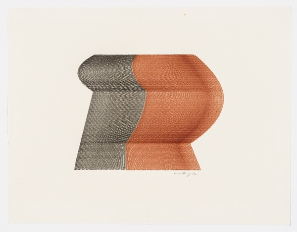 ROBERT MALLARY, 2 colour plotter graphic, 1972  SOLD