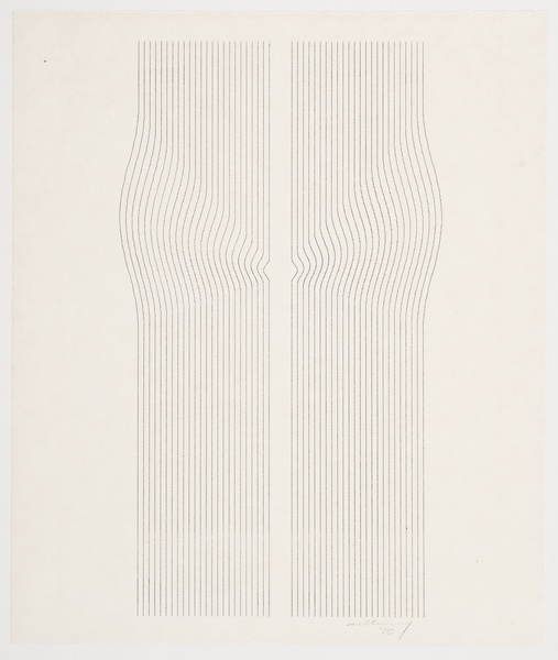 ROBERT MALLARY, Incremental series, 1970  SOLD
