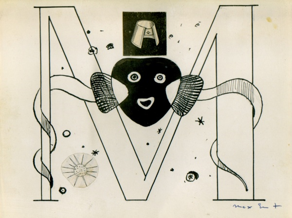 MAX ERNST, 'Initial M' Illustration for Benjamin Péret, La Brebis Galante, Paris, 1949, 1949