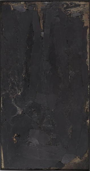ROBERT MALLARY, Untitled, 1957-1958  Mixed media: Found materials, resin and pigment mixture on board  44 ½ x 23 ½ x 2 in 113 x 59.7 x 5 cm
