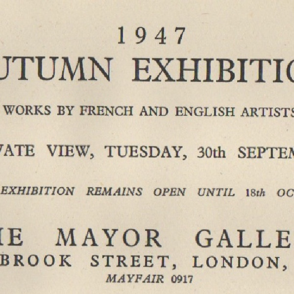 AUTUMN EXHIBITION
