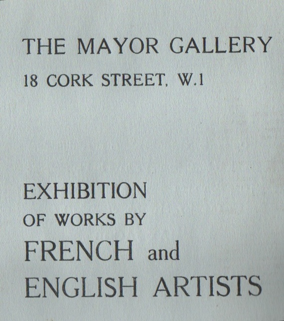 EXHIBITION OF WORKS BY FRENCH AND ENGLISH ARTISTS