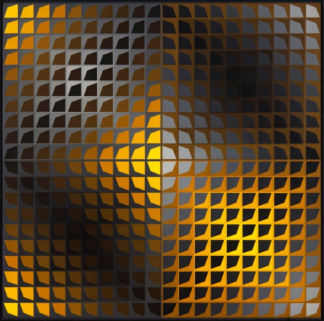 <p><span class=&#34;artist&#34;><strong>VICTOR VASARELY</strong></span>, <span class=&#34;title&#34;><em>Barson</em>, 1966-1969</span></p><div class=&#34;medium&#34;>Oil on wood</div><div class=&#34;dimensions&#34;>80 x 80 x 3 cm<br />31 &#189; x 31 &#189; x 1 1/8 inches</div>